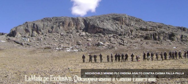 Complaint-review: Eduardo Hochschild of Hochschild Mining PLC - Dodgy land ownership strategies & contracts endanger Huancute and Casma Palla'Palla in Peru. Photo #2
