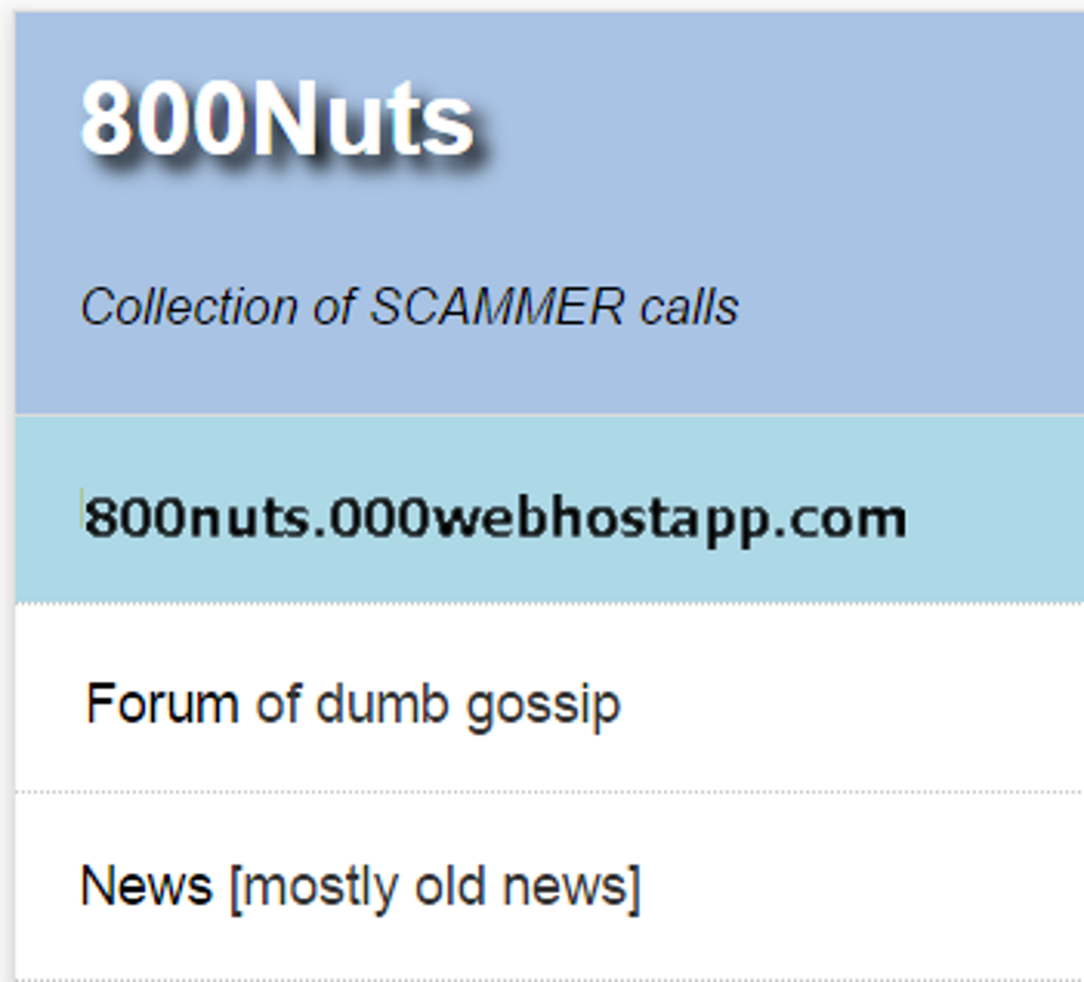 Complaint-review: 800notes - Reverse Phony Directory