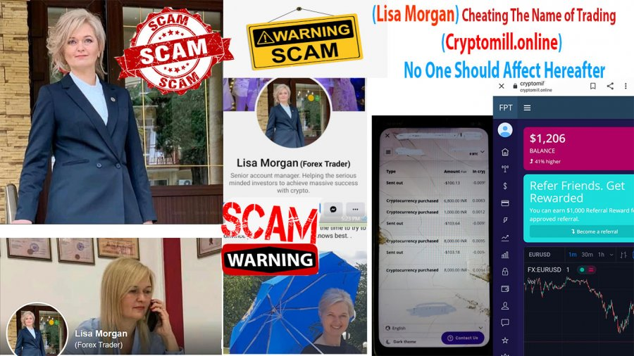 Complaint-review: Lisa Morgan - Lisa Morgan (she has cheated me - $310) The Name of Trading (www.Cryptomill.online). Photo #4